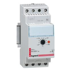 Thermostat modulaire d'ambiance de tableau avec réglage de 3°C à 30°C 230V~ 50Hz à 60Hz 2 modules (003840) - LEGRAND