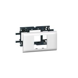 Support Mosaic 2 modules pour goulotte DLP monobloc avec couvercle 65mm (010952) - LEGRAND