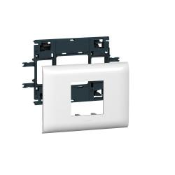Support Mosaic 2 modules pour goulotte DLP monobloc avec couvercle 85mm (010992) - LEGRAND