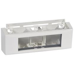 Cadre Mosaic 6 modules pour toutes moulures et plinthe hauteur 20mm DLPlus blanc (031614) - LEGRAND