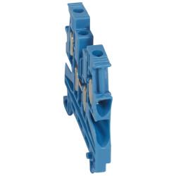 Bloc de jonction de passage à vis Viking3 avec 1 jonction 2 entrées 2 sorties section 4mm2 pas 6mm bleu (037109) - LEGRAND