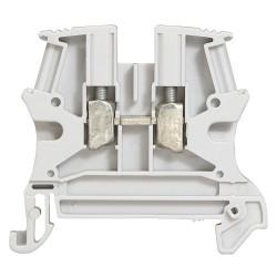 Bloc de jonction de passage à vis Viking3 avec 1 jonction 1 entrée 1 sortie section 4mm2 pas 6mm gris (037161) - LEGRAND