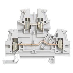 Bloc de jonction de passage à vis Viking3 avec 2 jonctions 2 étages section 2,5mm2 pas 5mm gris (037167) - LEGRAND