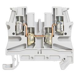 Bloc de jonction de passage à vis Viking3 avec 1 jonction 2 entrées 2 sorties section 4mm2 pas 6mm gris (037169) - LEGRAND