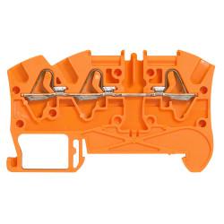 Bloc de jonction de passage à ressort Viking3 avec 1 jonction 3 conducteurs 1 entrée 2 sorties pas 5mm orange (037242) - LEGRAND