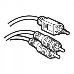 Cordon audio stéréo Jack 3,5mm mâle vers 2 RCA mâle Y longueur 2m (051405) - LEGRAND