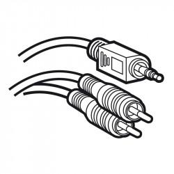 Cordon audio stéréo Jack 3,5mm mâle vers 2 RCA mâle Y longueur 5m (051406) - LEGRAND