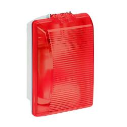 Hublot rectangulaire étanche Plexo avec diffuseur rouge pour lampe E27 (062402) - LEGRAND