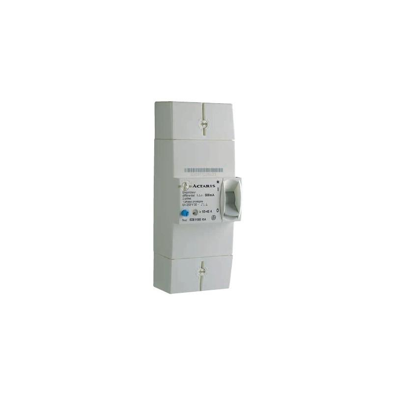 Disjoncteur (EDF) 2P 15-45A Diff 500mA - ACTARIS