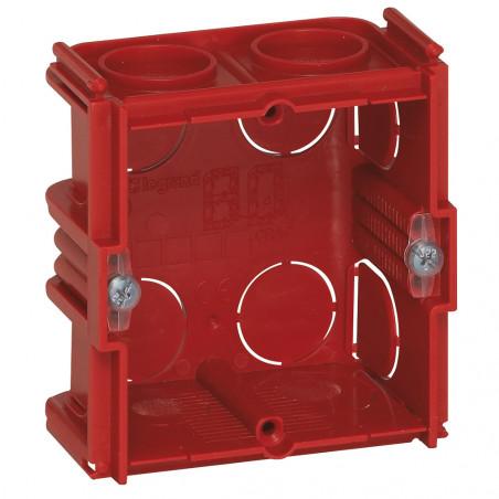Boîte monoposte Batibox maçonnerie carrée 1 poste associable profondeur 40mm (080141)