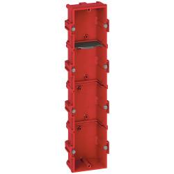 Boîte multiposte Batibox maçonnerie 4 postes 8 à 10 modules profondeur 40mm (080144) - LEGRAND