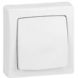 Interrupteur va-et-vient Appareillage saillie complet blanc (086001) - LEGRAND