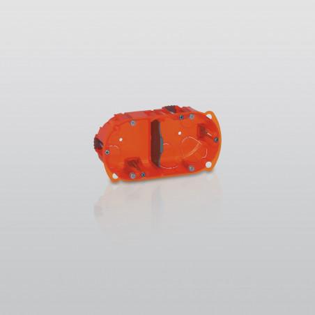 Boîte à encastrer Batibox multimatériaux 2 postes profondeur 40mm (090502)
