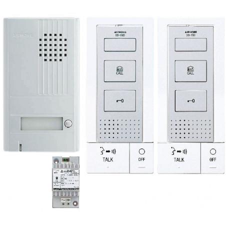 Kit Portier Audio 2 Fils Intégral Mains Libres Avec Platine Saillie Alu 1Bp - AIPHONE