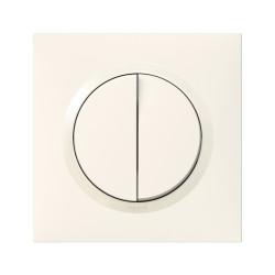 Double interrupteur ou va-et-vient dooxie 10AX 250V~ livré avec plaque carrée blanche et griffes (095011) - LEGRAND