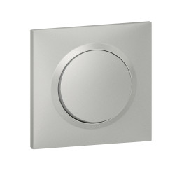 Interrupteur ou va-et-vient dooxie 10AX 250V~ livré avec plaque carrée alu et griffes (095030) - LEGRAND