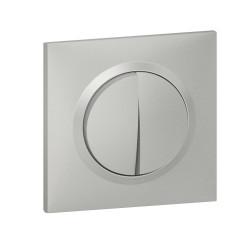 Double interrupteur ou va-et-vient dooxie 10AX 250V~ livré avec plaque carrée alu et griffes (095031) - LEGRAND