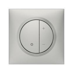 Variateur toutes lampes dooxie 2 fils sans Neutre livré avec plaque carrée alu et griffes (095033) - LEGRAND
