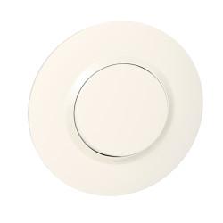 Interrupteur ou va-et-vient dooxie 10AX 250V~ livré avec plaque ronde blanche et griffes (095050) - LEGRAND