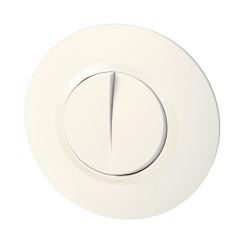Double interrupteur ou va-et-vient dooxie 10AX 250V~ livré avec plaque ronde blanche et griffes (095051) - LEGRAND