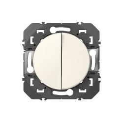 Double interrupteur ou va-et-vient dooxie 10AX 250V~ finition blanc emballage blister (095201) - LEGRAND