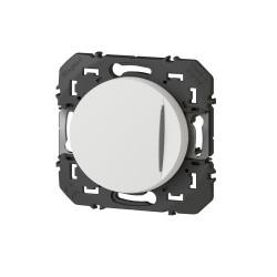 Interrupteur ou va-et-vient avec voyant témoin dooxie 10AX 250V~ finition blanc emballage blister (095203) - LEGRAND