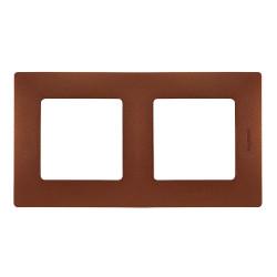 Plaque 2 postes Niloé Cacao...