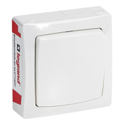 Interrupteur ou va-et-vient Appareillage Saillie Blanc (097600) - LEGRAND