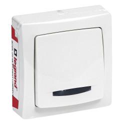 Interrupteur-va-et-vient lumineux Appareillage Saillie Blanc (097603) - LEGRAND