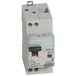 Disjoncteur différentiel DX4500 arrivée haute et départ bas à vis U+N 230V~ 16A typeAC 300mA courbe C 2 modules (410725) - LEGRAND