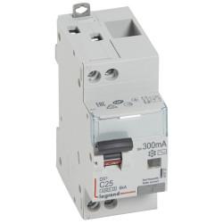 Disjoncteur différentiel DX4500 arrivée haute et départ bas à vis U+N 230V~ 25A typeAC 300mA courbe C 2 modules (410727) - LEGRAND