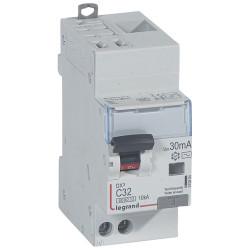 Disjoncteur différentiel monobloc DX6000 10kA arrivée haute automatique départ bas vis U+N 230V~ 32A typeAC 30mA (410804) - LEGRAND