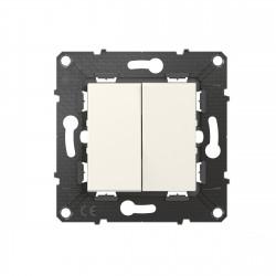 Double interrupteur ou va-et-vient Altège 10A avec connexion à bornes automatiques finition Neige (BTAL02DD) - LEGRAND