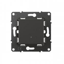 Interrupteur ou va-et-vient lumineux Altège 10A avec connexion à bornes automatiques finition Nuit (BTAL03SD) - LEGRAND