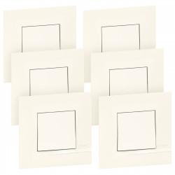 Lot de 6 interrupteurs ou va-et-vient Altège 10A livrés avec plaques finition Neige (BTAL61DL) - LEGRAND