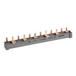 Peigne d'alimentation bipolaire équilibré sur 3 phases HX traditionnel pour bornes à vis longueur 12 modules (404940) - LEGRAND