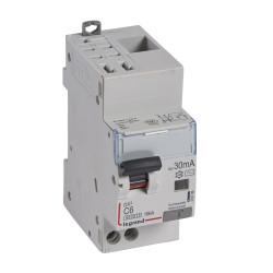 Disjoncteur différentiel monobloc DX6000 10kA arrivée haute automatique départ bas vis U+N 230V~ 6A typeAC 30mA (410799) - LEGRAND