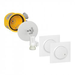 Kit Modul'up avec 1 boite Modul'up + 1 DCL radio + 1 douille ave fiche DCL + 2 commandes dooxie sans fil blanc (088565) - LEGRAND