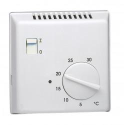 Thermostat ambiance bi-métal chauf eau ch avec contact à ouverture + voyant 230V (25800) - HAGER