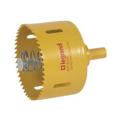 Scie cloche diamètre 85mm pour boîte Batibox prise 20A ou 32A cloisons sèches (089368) - LEGRAND
