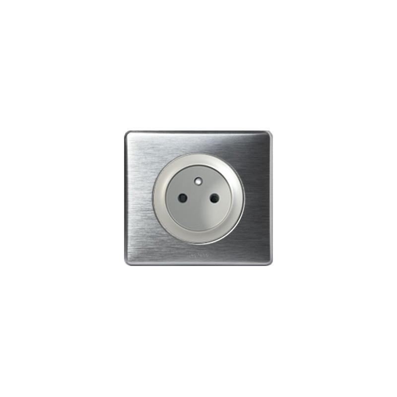 Aluminium - Prise 2P+T Bornes Auto - LEGRAND