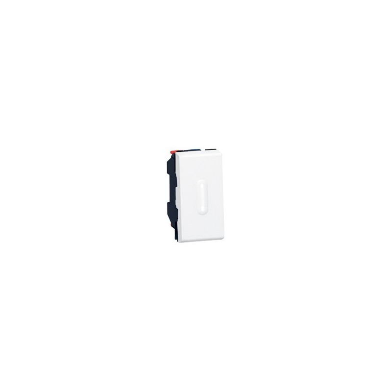 POUSSOIR INVERSEUR MOSAIC - 1 MOD - À VOYANT À LED - 6 A - BLANC (077032) - LEGRAND