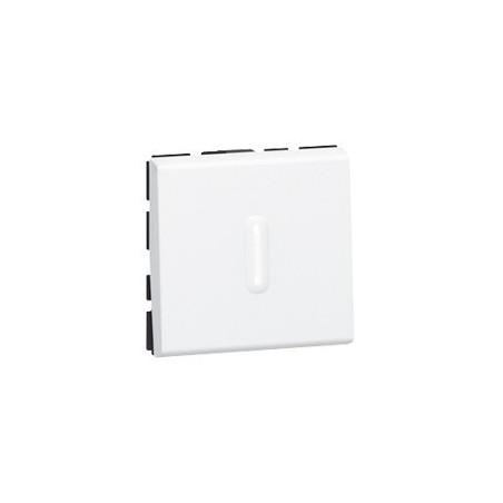 POUSSOIR INVERSEUR MOSAIC - 2 MOD - À VOYANT LED - 6 A - BLANC (077042) - LEGRAND