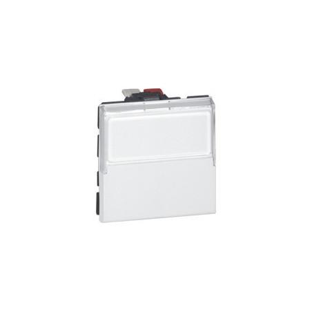 Poussoir Inverseur Mosaic - 2 Mod - Porte-Étiquette - 6 A - Blanc (077043) - LEGRAND