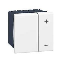 Inter Variateur Mosaic - 2 Mod - Sans Neutre - 2 Fils - 400 W - Blanc (078401)