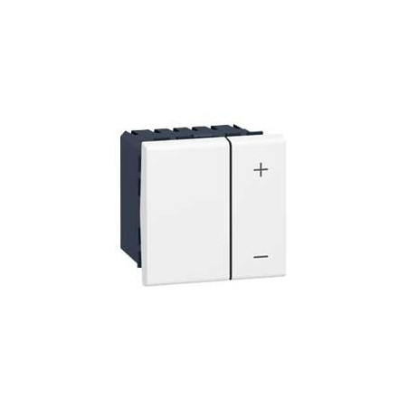 Inter Variateur Mosaic - 2 Mod - Sans Neutre - 2 Fils - 400 W - Blanc (078401) - LEGRAND