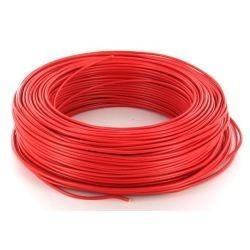 100m de câble H07V-R 1G6 fil rouge - Cable