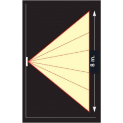 Détecteur de mouvements fixation encastrée - 195°