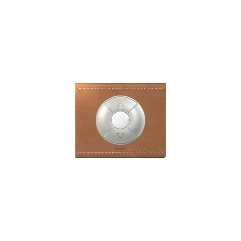 Cuir Camel - Interrupteur Volets/Stores - LEGRAND