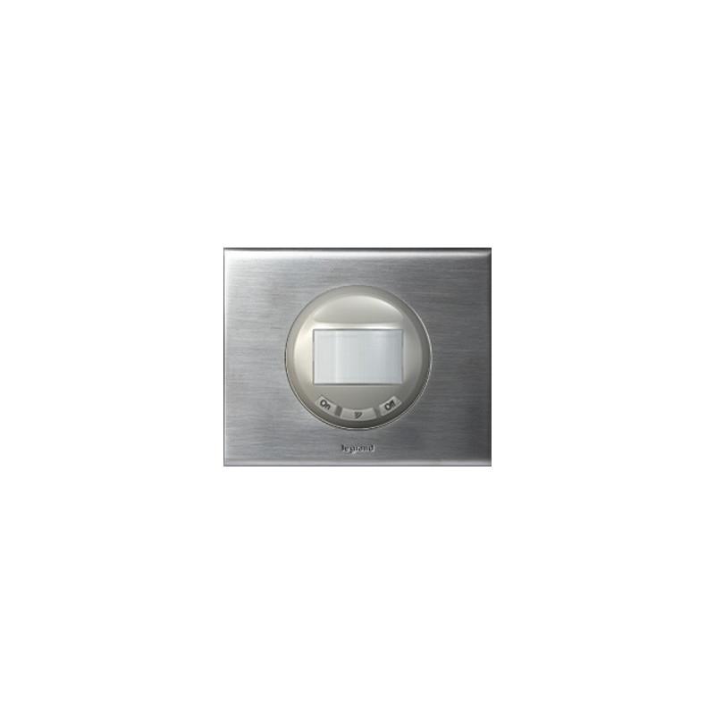 inox brosse interrupteur automatique avec fonction marche arret sans neutre 400w legrand. Black Bedroom Furniture Sets. Home Design Ideas